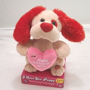I Love You Puppy Singing Toy